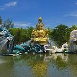 Bodhisattva Avalokitesavara (Kuan-Yin) performing a miracle in Muang Boran (Ancient Siam) in Samut Prakan, Thailand thumbnail