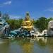 Bodhisattva Avalokitesavara (Kuan-Yin) performing a miracle in Muang Boran (Ancient Siam) in Samut Prakan, Thailand