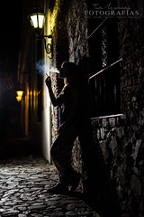Gloom (Federico Menndez) Tags: street shadow woman mist silhouette noche calle mujer women camino cigarette smoke sombra colonia gloom soledad silueta humo nigth cigarrillo penumbra darknes lonelines