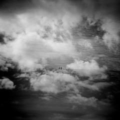 If there is a Heaven (Daniel Polidori) Tags: blackandwhite bw film silhouette clouds toycamera multipleexposure analogue cannonbeach plasticcamera holga120n fujifilmneopanacros100 bwfp
