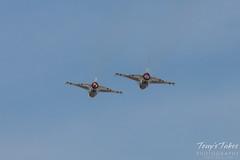 U.S. Air Force Thunderbirds on afterburner