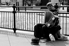 DSC00321 (rainie_ho) Tags: street musician white black liverpool photography mono candid accordion ho performer greyscale rainie