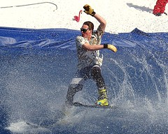 Contestant 37 (5of7) Tags: canada cold wet water wonderful ouch spring nice skiing image action great alberta banff fav effect sunshinevillage slushcup 2015 3fav