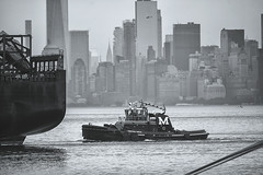 Commerce--NY Harbor (PAJ880) Tags: new york nyc bw ferry buildings harbor is manhattan staten