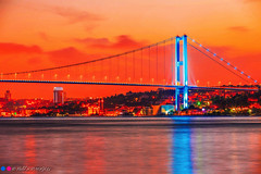 Dream City (Halil Sopaolu HN I Photography) Tags: bridge colorful sunset night nightphotography nicepicture nice blue istanbul sea light engelky flickr flickrphoto halil2016 buildings building europeanside longexposure canoneos6d canon canonphotography canondsrl canonllenses copyright canon70200mmf28lisiiusm canon70200mmf28liiisusm sky skyline greatshot landscape landscapephotography kadraj
