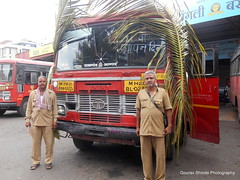 MSRTC Tasgaon Depot bus on her Birthday (gouravshinde94) Tags: msrtc bus tasgaon sangli parivartan