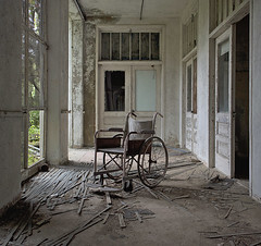 NJ TB Hospital (Jonnie Lynn Lace) Tags: abandoned abandonedamerica abandonednj ruins modernruins derelict decay decayed decaying chasinglight peelingpaint wheelchair abandonedchair naturetakesover door doors