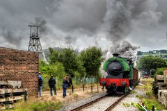 Hunslet 3694 'Whiston' (IndustrialMadness) Tags: smoke hurricane railway steam soot gala colliery foxfield ncb whiston austerity