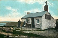 The first and last (mgjefferies) Tags: england cornwall penzance landsend 1911 postcard first last house