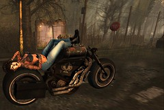 Born To Be Wild (soulstotheabyss) Tags: motorcylce sunset everwinter ridehard secondlife secondlifephotography nightowldiscussions