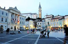 Tartini Square at dusk, Piran / Slovenia (anji) Tags: slovenia slovenija piran pirano adriaticsea istra istria exyu exyugoslavia southeasteurope