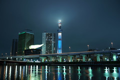 DSC01715 (Zengame) Tags: cloud tower japan architecture night zeiss tokyo cloudy sony illumination landmark illuminated cc creativecommons   rx iki       skytree rx1 komagatabashi   tokyoskytree  rx1r rx1rm2 rx1rmark2