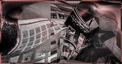 Fragmentos (seguicollar) Tags: edificios arquitecturas monotono red rojo negro black imagencreativa photomanipulacin virginiasegu artedigital arte art artecreativo