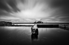 sutro 2 infinity pools (hbphototeach) Tags: approved sutro baths san francisco california bayarea long exposure black white seal rocks landscape seascape clouds ruins pools pacific ocean