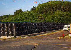 Bags of radioactive waste during radioactive decontamination process after the daiichi nuclear power plant irradiation, Fukushima prefecture, Iitate, Japan (Eric Lafforgue) Tags: ecology japan horizontal danger outdoors japanese unsafe dangerous energy asia risk environmental cleanup radiation nobody nopeople forbidden pollution disaster environment radioactive radioactivity bags waste atomic fukushima hazard atom catastrophe exclusion contamination decontamination contaminated daiichi radioactivewaste 0people nuclearaccident fukushimaprefecture irradiate atomicwaste decontaminating iitate colourpicture nuclearindustry fukushimaexplosion fukushimadisaster japan161861