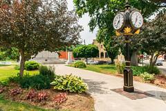 Cenotaph Clock (fotofrysk) Tags: clock timepiece cenotaph park lestweforget grandriverstreetnorth cars street highway24a centurybuildings areahub smalltown canada ontario paris nikond7100 201606265314