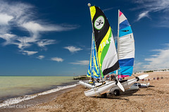 Two Cats (Neil Clark) Tags: greatbritain worthing westsussex southcoast hobiecat englishchannel catamarans worthingseafront