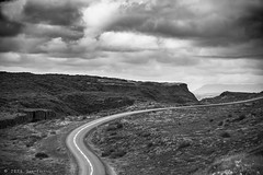 The road (E PHOTO) Tags: road bw nature monochrome clouds iceland winding rnerlendsson ephoto