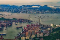Hong Kong (Tommy K Le) Tags: building water hong kong stonecuttersbridge bridge ships shipyard kowloon victoriaharbour victoriapeak city cityscape tsingyi lpdigital asia kwaichung containers port hongkong