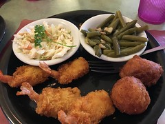 Fried Shrimp greenbeans & Cole slaw (King Kong 911) Tags: food shrimp catfish greenbeans coleslaw bananapudding