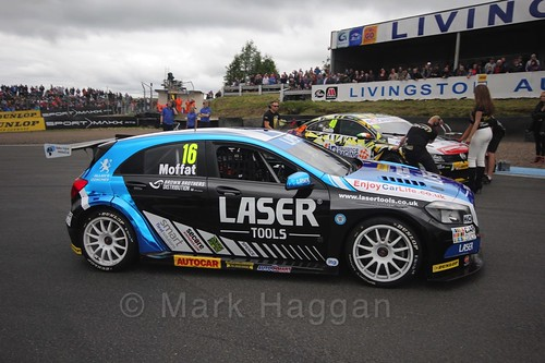 Aiden Moffat on the grid during the BTCC Knockhill Weekend 2016