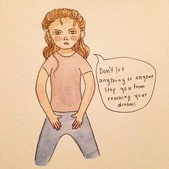 Just do it (reginacuenta) Tags: drawing art illustration watercolor justdoit
