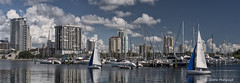 St Petersburg, FL City (Golden One Images) Tags: gloriamatyszyk architecture clouds nature ocean sky wwwgoldenoneimagescom stpetersburg fl cityscape marina boats