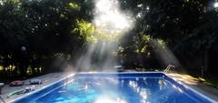 Sunbeams and Smoke on the Water (IMG_4470-1) (Gail Frederick) Tags: sunbeam pools trees smoke