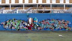 Merc + Wrist77 + Corze graffiti, Stockwell (duncan) Tags: graffiti stockwell corze merc wrist wrist77
