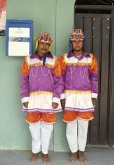Mixtec Dancers Oaxaca Mexico (Ilhuicamina) Tags: danzantes mixtec oaxaca costa mexico mexican regalia costumes sanjuancolorado men