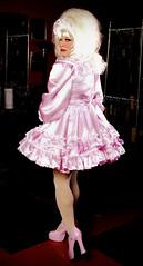 Pink Satin Sissy 6 (jensatin4242) Tags: sissy crossdresser transvestite jensatin satin frilly