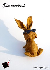 overworked (-sebl-) Tags: rabbit coco paper origami sebl overworked square glasses sun fun