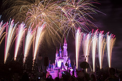 wishes fireworks2 (andyd655) Tags: disneyworld magic kingdom hollywood studios florida orlando fireworks castle wishes star wars sparke canon 70d 1755 28
