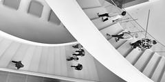 Les visiteurs/The visitors/De beskare (Elf-8) Tags: stair poeple curve architecture modern white