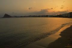 guilas Murcia (fotografiarayodeluna) Tags: espaa murcia atardecer paisaje playa mar aguilas