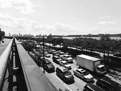 Manhattan Westside 12th Avenue Traffic (daropo67too) Tags: westside manhattan 12thavenue cars traffic newyork blackwhite bw nyc newyorkcity nikon coolpix nikoncoolpixl840