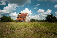 One Fine Day (MilkaWay) Tags: georgia ruralgeorgia ga77 woodville greenecounty farm barn tinroof rusted clouds sky summer grass field pastoral
