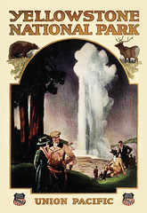Old Faithful, 1921 (JFGryphon) Tags: yellowstonepark publicityposter northernpacificrailroadline