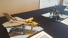 The Tornado pair @ Bricktopia Brunssum 2016 (Kenneth-V) Tags: lego military moc scale model aircraft 136 display exhibition brunssum event dutchbricks bricktopia 2016 fighter planes plane bomber raven spirit mirage tornado complete tiger