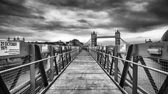 Walking The Plank (martinbaker76) Tags: martinbaker76 nikon d7000 1685 blackandwhitelondon hmsbelfast towerbridge london uk