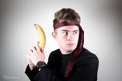 James Bond?? (Forty-9) Tags: selfie softbox efs1785mmf456isusm 2016 yongnuospeedliteyn560iv photr strobist tie jamesbond yongnuo lightroom canon strobism studio efslens eos60d 03102016 3rdoctober2016 weird monday banana welcometomylittleworld october silly flash selfportrait stupid