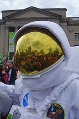spaceman in the city (lucymagoo_images) Tags: urban reflection philadelphia festival franklin sony helmet science institute reflected spaceman philly spacesuit rx100 lucymagoo lucymagooimages