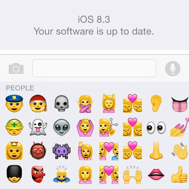 Updated your Apple Smart Device to IOS 8.3 ? 😎 A new swifter emoji keyboard 😉 #Apple #AppleLoyalist #iOS #Update #AppleFanatic 😌