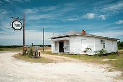 Pure Country (MilkaWay) Tags: usa abandoned sign america georgia gasstation americana crossroads pure vintageadvertising gaspumps theforgotten johnsoncounty ruralgeorgia us319 puregas newhomecommunity forgottengeorgia
