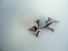 Lagartija - Román Díaz (Rui.Roda) Tags: origami lizard papiroflexia lagartija lagartixa román díaz papierfalten