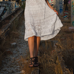 Step by step... That's life... (dermasi) Tags: madrid max abandoned girl canon spain dress legs lifestyle 7d tamron kettner amateurmodel amateurphotography lugaresabandonados modeloamateur fotografoamateur canon7d maxkettner