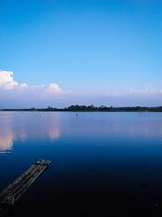Situ Sedong #1 (Octaff Muhammad) Tags: cirebon indonesia lake danau biru langit boat awan teluk air water laut sea beach blue bluelake