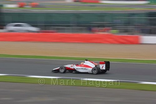 Charles Leclerc in the ART Grand Prix car in qualifying for GP3 at the 2016 British Grand Prix