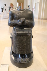 Diorite Statue of Gudea, Prince of Lagash, c. 2120 BC (Gary Lee Todd, Ph.D.) Tags: france louvre paris ancient neareast