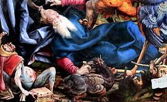 IMG_8154DB Matthias Grnewald.(Mathis Gothart Nithart)  1480 1528. Actif en Bade Wtemberg (Souabe)  et Alsace.  Le retable d'Issenheim. 2me ouverture  Les Tentations de St Antoine.   The Temptations of St. Anthony. Colmar Muse Unterlinden. (jean louis mazieres) Tags: france museum painting muse colmar museo peintures peintres matthiasgrnewald retabledissenheim museunterlinden mathisgothartnithart